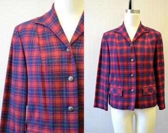 1970s Pendleton Plaid Wool Jacket