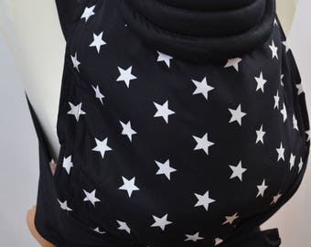 MEI TAI Baby Carrier / Sling / Reversible / Stars in straight cut model / Handmade / Cotton / Made in UK
