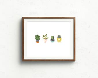 11 x 14, Succulents, Boho Inspired, digital download, art print, printable, Gracie and Joy, home decor, wall decor, cactus