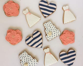 12 Bridal Shower Cookies