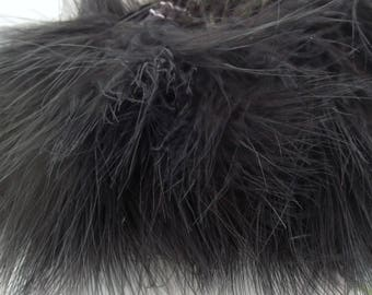 Black Marabou Feathers Strung Black MRSPD-12 Craft feathers fly tying
