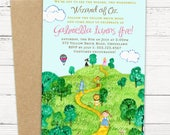 Wizard of Oz Birthday Invitation - PRINTABLE or Printed Invitations