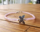 Silver Butterfly Anklet w...