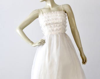 vintage 60s Saks Fifth Avenue white wedding dress