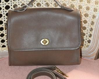 June Savings Vintage Coach~Coach ~Coach Court Bag~ Coach~ Taupe ~USA Made