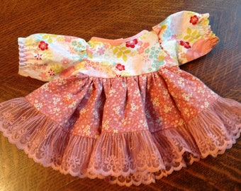 """Handmade 16"""" Doll Clothes, 16"""" Baby Doll Clothes, 16 Inch Doll Clothes, 16"""" Doll Dress, 16""""'Doll Outfit"""