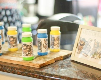 Where the wild things are bubble labels (2x4 inch)- (Quantity 12)