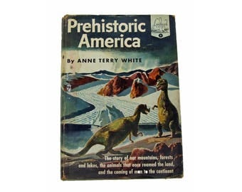 Vintage Prehistoric America Dinosaur Landmark Book 1951 With Dust Jacket Dated 1951