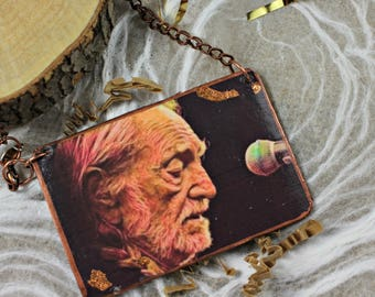 WILLIE NELSON  Portrait Truck Ornament Country Music Gift For Fan Vintage Style County Star Legend