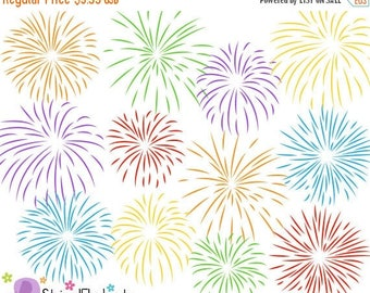 40% OFF SALE Firework Clip Art - Digital Clipart - Instant Download - Commercial Use