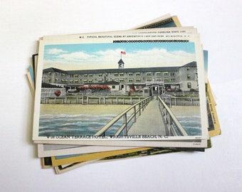 25 Vintage North Carolina Postcards Blank - Wedding Guestbook