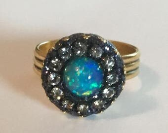 Summer SALE Solid ethiopian opal ring