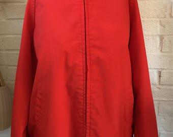 Vintage Red Gleneagles Desert Classic Zip Up Wind Breaker / Jacket