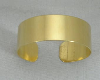 """Brass Cuff bracelet blank, 3/4"""" x 6"""", One DOZEN  (unfinished) for decoupage, wire wrapping, bead embroidery, alcohol ink, stamping"""