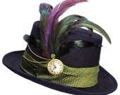 Top Hat Steampunk Joker Mad Hatter Purple Green Mens Womens Cosplay
