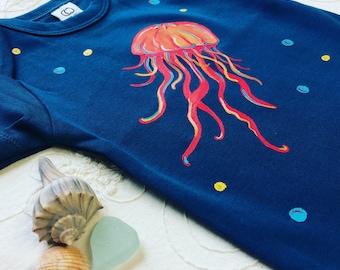 Jellyfish Baby Organic Cotton Bodysuit Perfect baby shower Gift