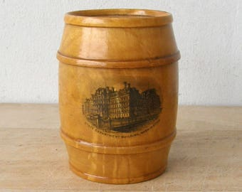 U. S. STATE DEPARTMENT BANK Washington D C Wooden Barrel Bank Mauchlineware Treen Scotland American United States Government History 1800's
