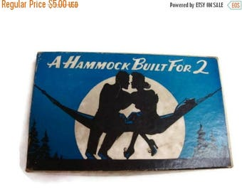 40% OFF NOW REDUCED 1941 Joke Mailer Gag Gift: A Hammock Built for 2