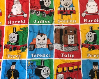 Thomas the Train Comforter Blanket Quilt Vintage 1992 Limited Edition Children kids