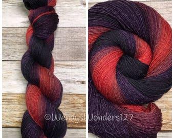 Hand Dyed Yarn, A Pirates Kiss, Gradient Yarn, Fingering Weight Yarn