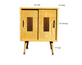 "custom - wheat with walnut rectangle on doors 20"" wide x 14"" deep x 34"" tall"