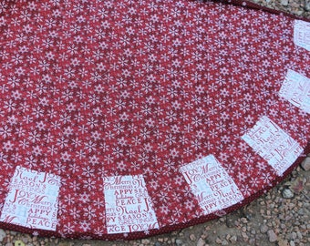 A Snowflake Masterpiece Quilts Christmas Tree Skirt