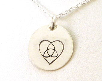 Celtic Sisters Knot Necklace Hand Stamped in Sterling Silver | Celtic Knot Necklace | Celtic Sisters Necklace