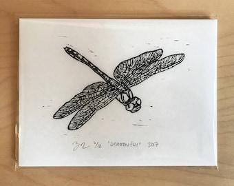 Dragonfly Woodcut