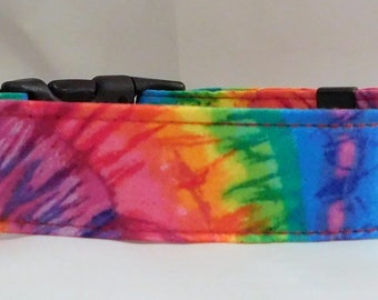 Dog Collar, Martingale Collar, Cat Collar - All Sizes - Tie Dyed