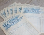 French Antique Paper, Scrapbooking, Decoupage, French Documents, Antique Invoices, Antique French Typography