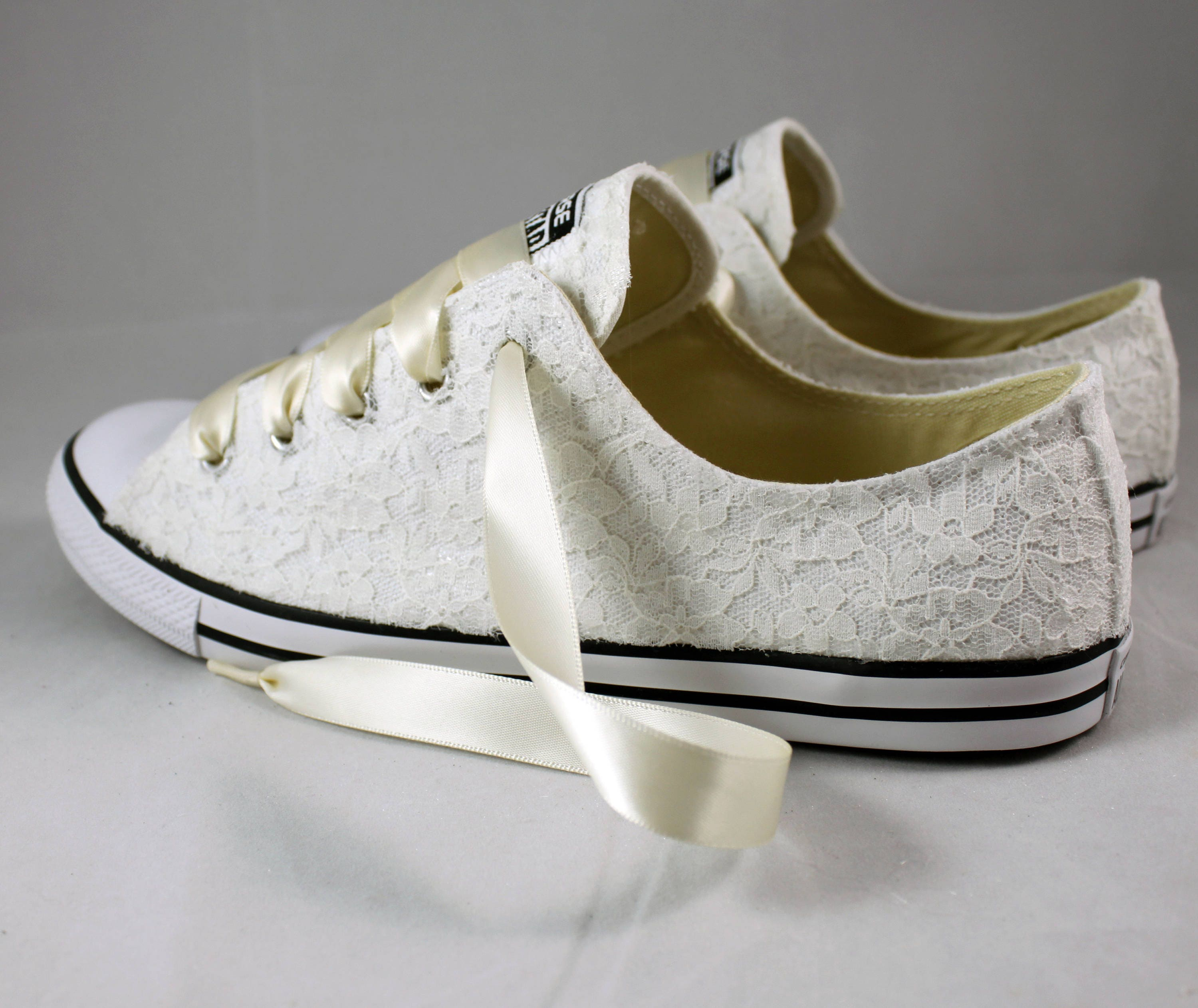 wedding shoes for bride ivory ivory lace wedding converse ivory lace bridal converses 1110