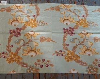 "Large Jim Thompson Linen Decorator Fabric Sample  Night Jasmine 36"" x 54"""