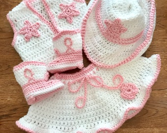 cowgirl baby outfit sizes newborn to 24m