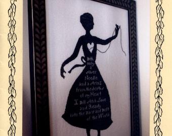 Heartstring Samplery: My Shadow - Cross Stitch Pattern