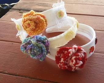 Knit Rose Headbands