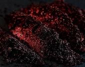 SALE Mineral Eye Shadow Num. 107 Black Valentine - Vegan Red and Black Shimmer Eye Shadow - Goth Eyeshadow, Cosplay Makeup, Metallic Eye Sha