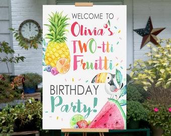 Tutti Frutti Party, Tutti Fruity Birthday Party,  PRINTABLE, Twotti Frutti Party Sign, Twotti Frutti Birthday, Tutti Fruitti Banner, Sign