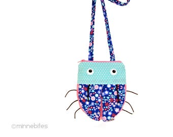 Toddler Girls Purse - Cute Cross Body Purse - Turquoise Lady Bug - Birthday Gift for Girls - First Purse - Adorable Purse - Ready to Ship
