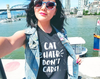 Cat Hair Don't Care ~ Adult Unisex Muscle Tank Top