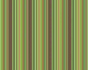 Hooty Hoot by Doohikey Designs for Riley Blake Fabric, C3017 Green Hooty Stripes