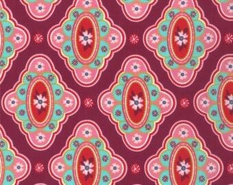 Liz Scott Fabric, Domestic Bliss by Liz Scott for Moda Fabrics, 18071-11 At the Table Eggplant
