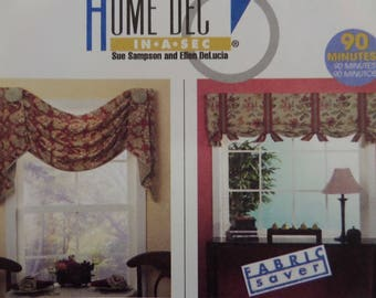 SIMPLE SWAG Pattern • McCalls 4802 • Window Treatments • Tuck Panels • Easy Shade • Sewing Patterns • Home Decor Patterns • WhiletheCatNaps