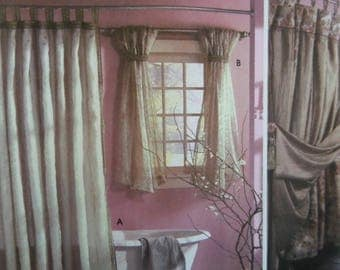 SHOWER CURTAIN Pattern • Simplicity 5480 • Bath Window Treatments • Chair Cover • Sewing Patterns • Home Decor Patterns • WhiletheCatNaps