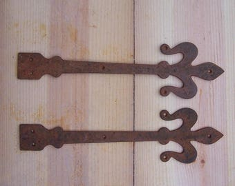 Decorative IRON STRAP set,, Hand Wrought Strap Set for Doors, Trunk & Chest lid Straps,