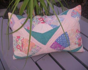 vintage quilt pillow