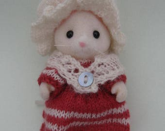 Knitting Kit for Calico Critters, Sylvanian Families, Going To Market, 18th century outfit