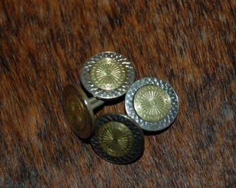 1920's  Gold Fill Etched Metal Cuff Links Excellent Pre-Owned Condition Vintage 1920's Cuff Links