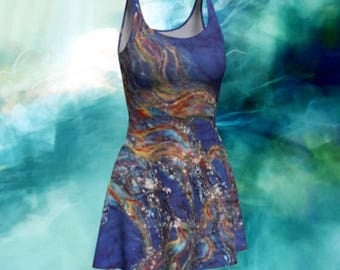 Fit and Flare Dress - Horses from the Sky Batik