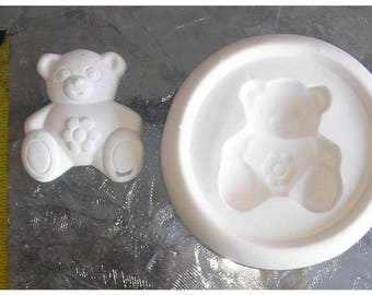 Nice Teddy Bear Frit Stained glass fusing kiln jewelry mold