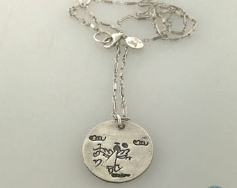 Large Charm with a Child's actual drawing